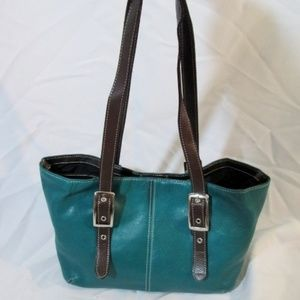TIGNANELLO Leather Satchel TOTE Bag Shoulder Bag